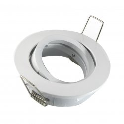 E044371 Druckguss Einbaurahmen mit Schnellspannkopf Weiß