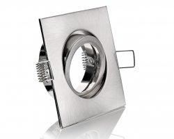 FL4459-5 Druckguss Einbaustrahler 4-eckig Klickverschluss