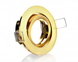 E044573 Druckguss Einbaustrahler Messing Gold Klick