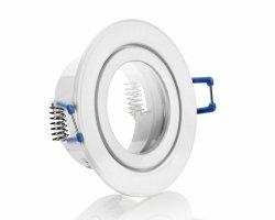 FL4557-1 IP44 ALU Einbaustrahler Weiß mit Klickverschluss