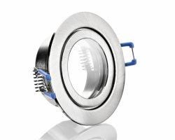 FL4557-5 IP44 ALU Einbaustrahler gebürstet Klickverschluss