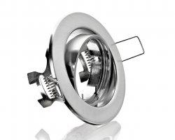 E044065 Metall Einbaustrahler Eisengebürstet inkl. GU10 Fassung