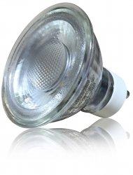 LED GU10 Strahler 5W Kaltweiß Schutzglas 230V 6000K 45Grad