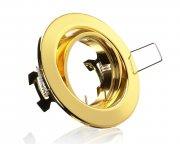 E044063 Metall Einbaustrahler Messing Gold inkl. GU10 Fassung